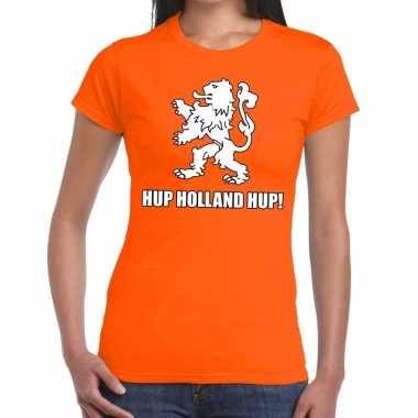 Nederlands elftal supporter shirt hup holland hup oranje dames