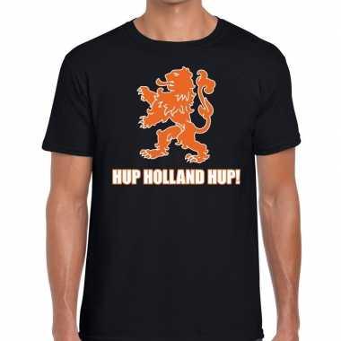 Nederlands elftal supporter shirt hup holland hup zwart heren