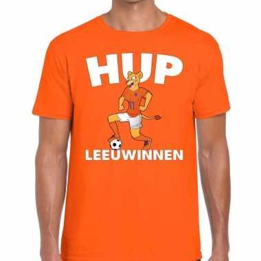 Nederlands elftal supporter shirt hup leeuwinnen oranje heren
