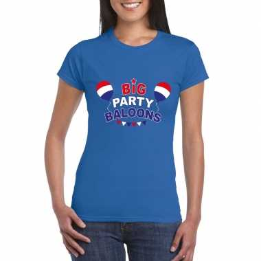 Officieel toppers big party baloons 2019 t shirt blauw dames