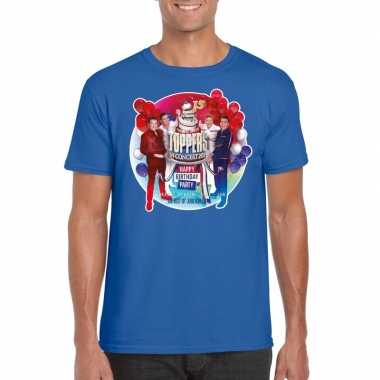Officieel toppers concert 2019 t shirt blauw heren