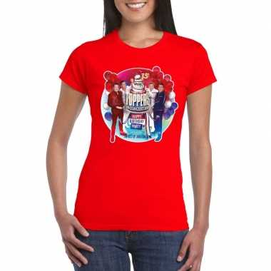 Officieel toppers concert 2019 t shirt rood dames