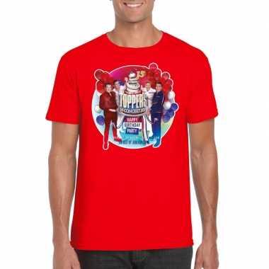 Officieel toppers concert 2019 t shirt rood heren