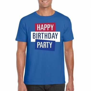 Officieel toppers concert happy birthday party 2019 t shirt blauw her