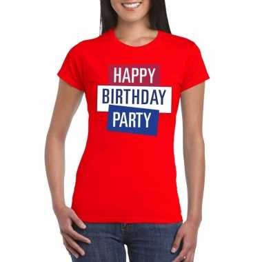 Officieel toppers concert happy birthday party 2019 t shirt rood dame
