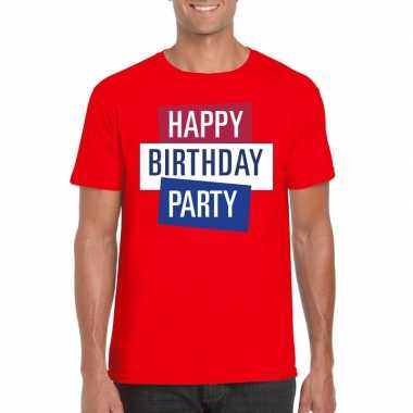 Officieel toppers concert happy birthday party 2019 t shirt rood here