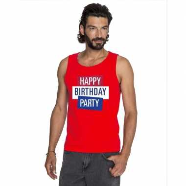 Officieel toppers happy birthday party singlet/ mouwloos shirt rood h