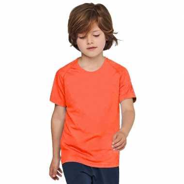 Oranje kinderen sport t shirts