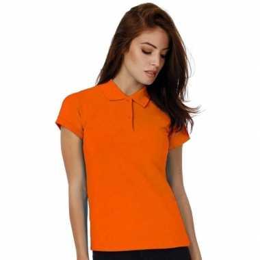 Oranje poloshirt dames