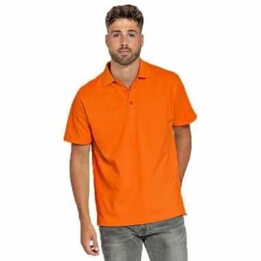 Oranje poloshirt heren