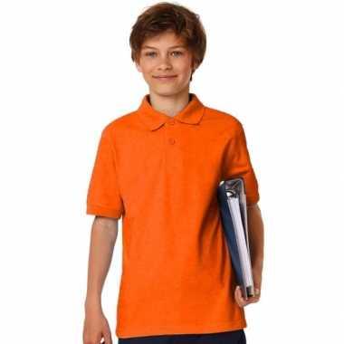Oranje poloshirt jongens