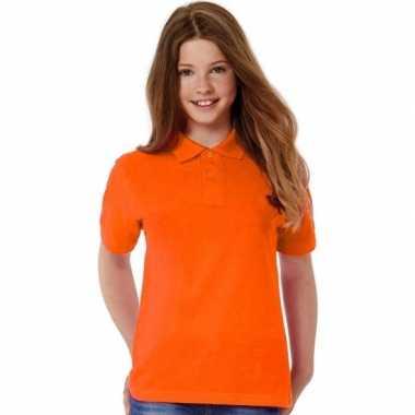 Oranje poloshirt meisjes