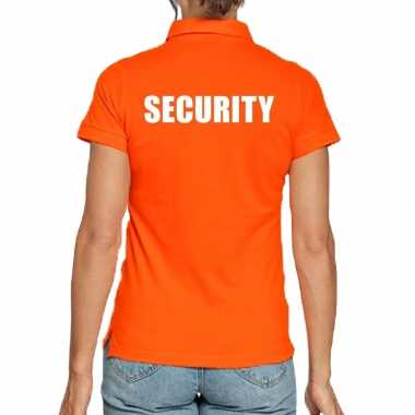 Oranje security polo t shirt dames