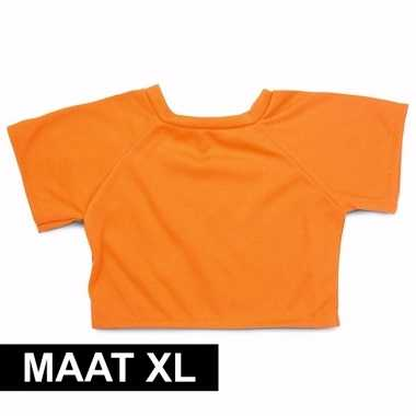 Oranje shirt xl clothies knuffeldier 22 bij 20