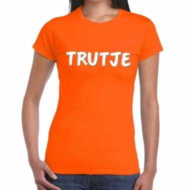 Oranje t shirt trutje dames