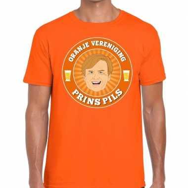 Oranje vereniging prins pils t shirt oranje heren