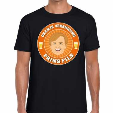 Oranje vereniging prins pils t shirt zwart heren