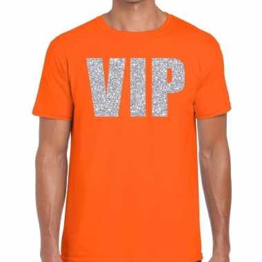 Oranje vip zilver fun t shirt heren
