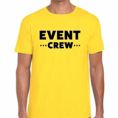 Personeel t shirt geel event crew bedrukking heren