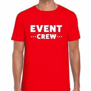 Personeel t shirt rood event crew bedrukking heren