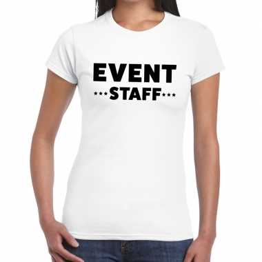 Personeel t shirt wit event staff bedrukking dames