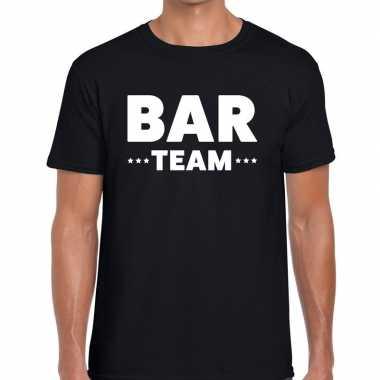 Personeel t shirt zwart bar team bedrukking heren