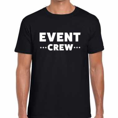 Personeel t shirt zwart event crew bedrukking heren