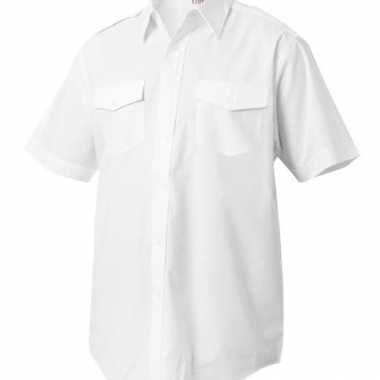 Piloten shirts korte mouw