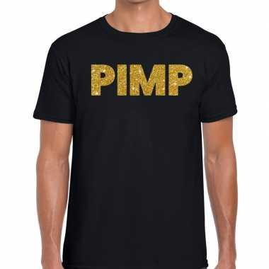 Pimp fun t shirt zwart heren