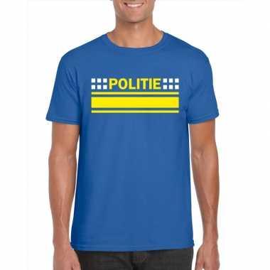 Politie agenten shirt blauw heren