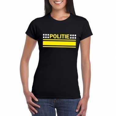 Politie agenten shirt zwart dames