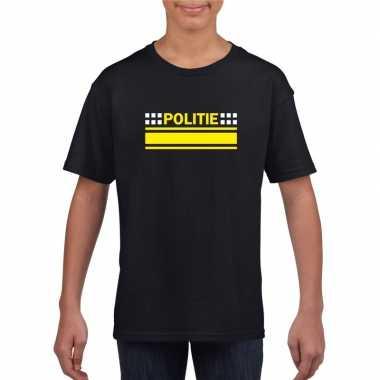 Politieagent shirt zwart kinderen