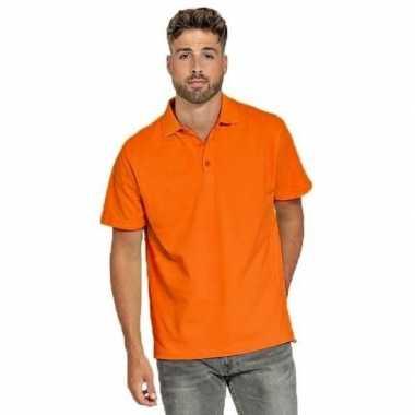 Poloshirt oranje heren