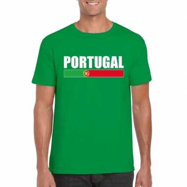 Portugese supporter t shirt groen heren
