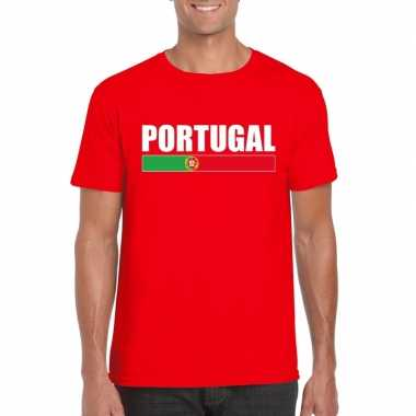 Portugese supporter t shirt rood heren