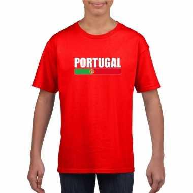 Portugese supporter t shirt rood kinderen