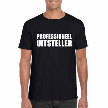 Professioneel uitsteller shirt zwart heren