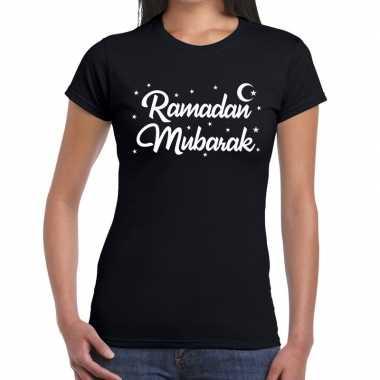 Ramadan shirt ramadan mubarak zwart dames
