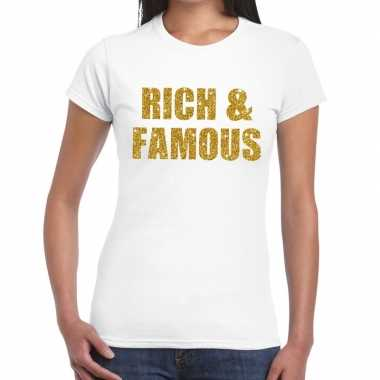 Rich and famous goud fun t shirt wit dames