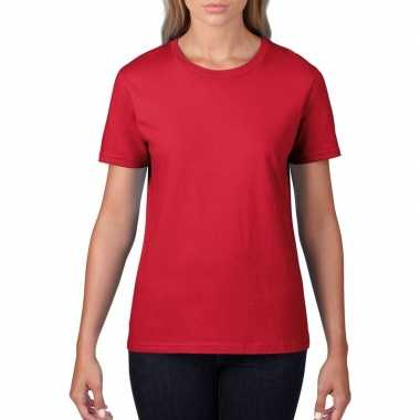 Rode dames casual t shirts ronde hals