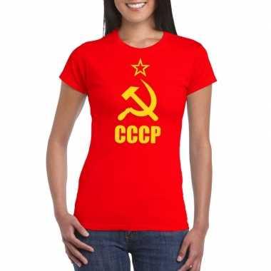 Rode sovjet unie communistische shirt dames