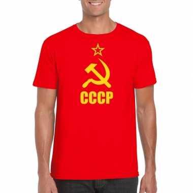 Rode sovjet unie communistische shirt heren