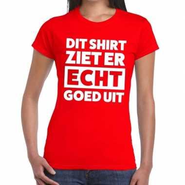 Rood feest t shirt dit shirt ziet er echt goed uit rood dames