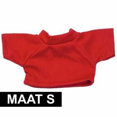 Rood shirt s clothies knuffeldier 10 bij 8