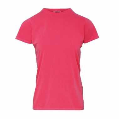 Roze dames t shirts ronde hals