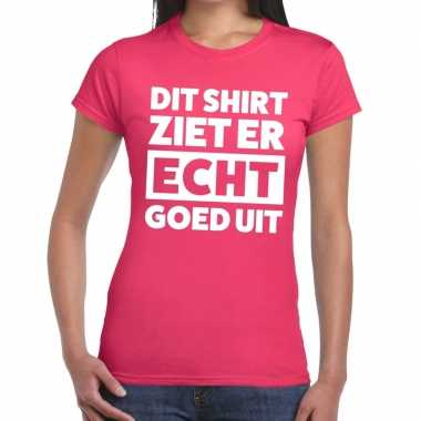Roze feest t shirt dit shirt ziet er echt goed uit roze dames