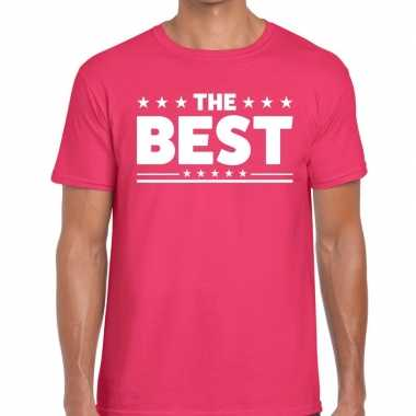 Roze the best fun t shirt heren
