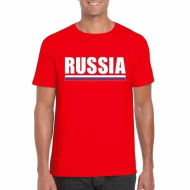 Russische supporter t shirt rood heren