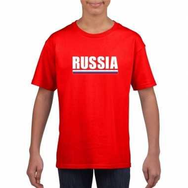 Russische supporter t shirt rood kinderen