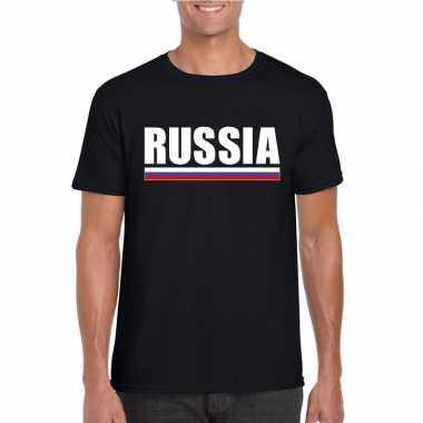 Russische supporter t shirt zwart heren